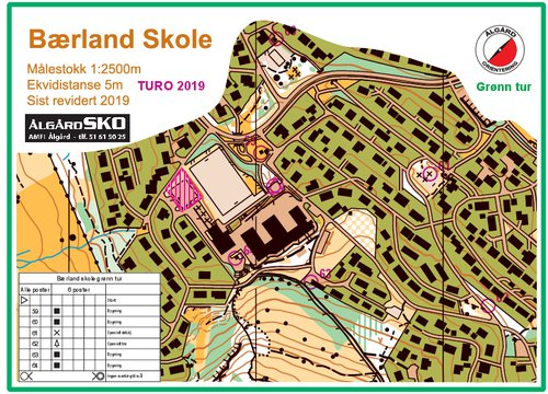 Kartside for Berland skole