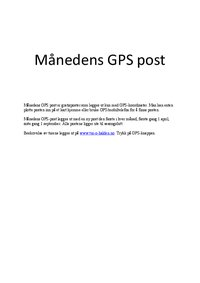 Kart for «Månedens GPS-post»