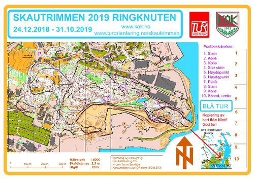 Kartside for Skautrimmen 2019 - Ringknuten